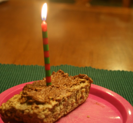 My birthday breakfast, set alight.