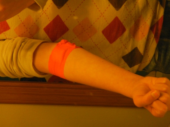 I did get an orange bandage.  But still--I think I was entitled to the cookies that ensued.