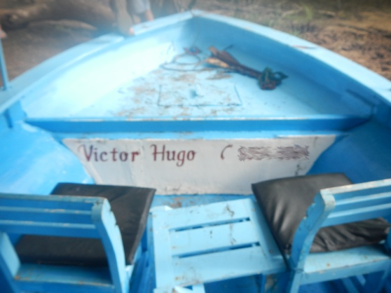 Yes, the name of the owner of our tour boat was actually Victor Hugo!!  I die.