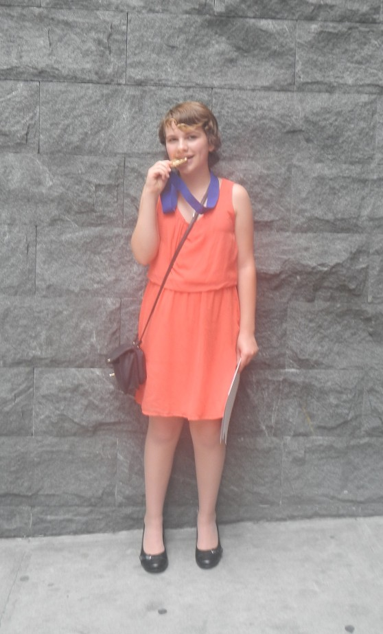 We managed to find an orange dress...a few days before we left :)